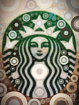 Starbucks Mermaid by Rachel Barrett