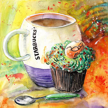 Miki De Goodaboom - Starbucks Mug and Easter Cupcake