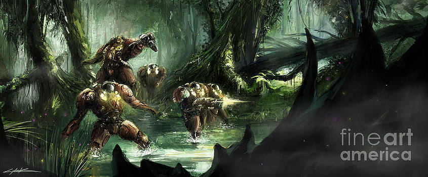 Starcraft 2 Heart Of The Swarm Jungle Expedition by Ondrej Soukup