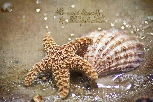 Regina  Williams  - Starfish on beach Mermaid kisses starfish wishes