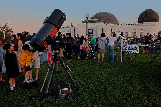 Stargazers at Dusk - Griffith Observatory Los Angeles California by Ram Vasudev
