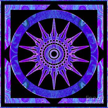 Omaste Witkowski - Starlit Purple Nights Abstract Mandala Artwork by Omaste Witkows