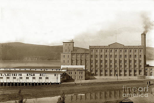 California Views Mr Pat Hathaway Archives - Starr and Co. flour mill at Crockett the south shore of Carquinez Strait California Circa 1887