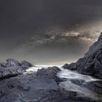 Starry Night above Black sea by Stoyan Hristov