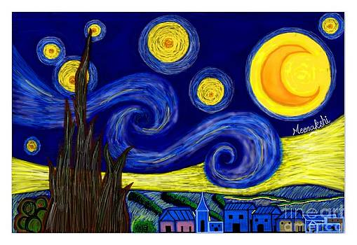 Starry Night Digital Remake by Mischa Art and More