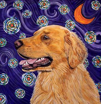 Starry Night Golden Retriever by Karen Howell