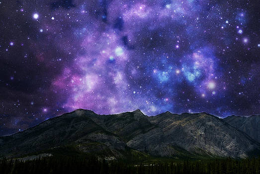 Starry Night in the Rockies by Mick Logan