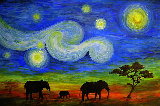 Starry Night Over Africa by Catherine Howley