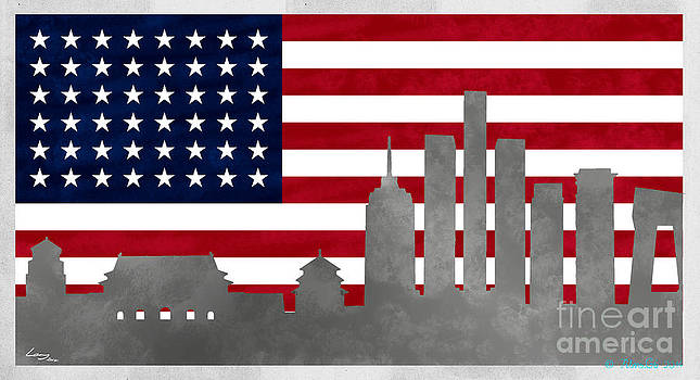 Stars and Stripes city by T Lang