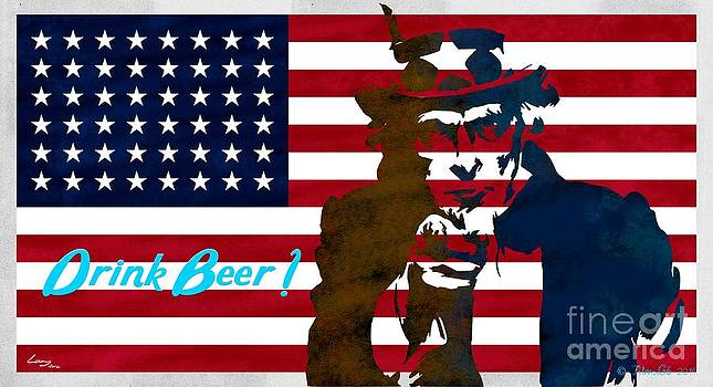 Stars and stripes  - Drink Beer by T Lang