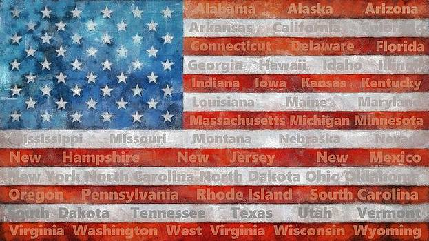 Michelle Calkins - Stars and Stripes with States