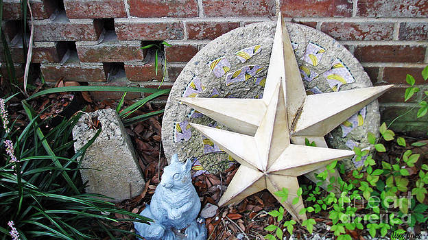 Stars Moon Clovers Brick House by Lisa Jones