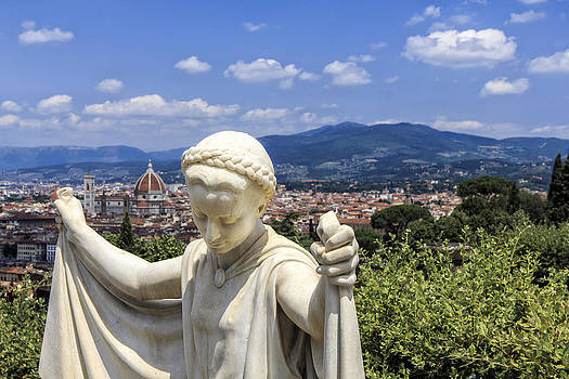 Statue at San Miniato al Monte by Rick Starbuck