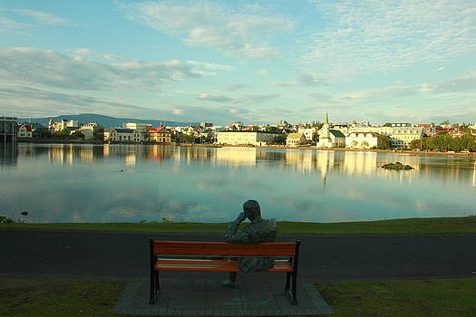 Statue in Reykjavik  by Halldor  Sigurdsson