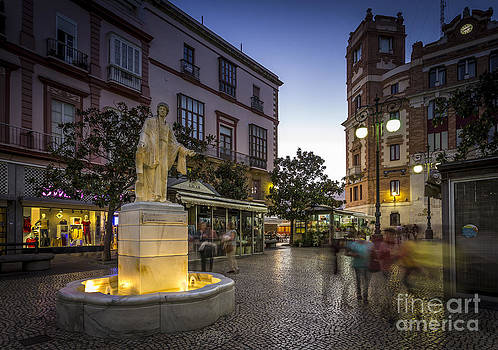 Statue of Columella in Flowers Square Cadiz Spain by Pablo Avanzini