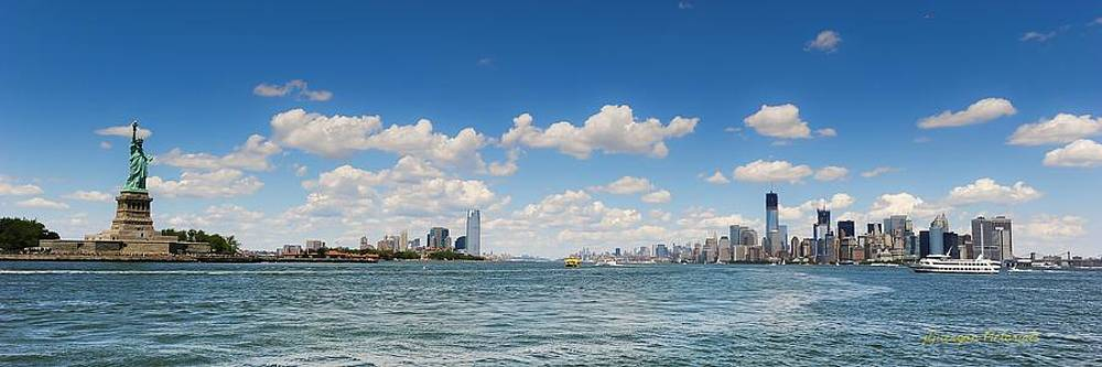 Statue of Liberty Meets Manhattan by Jorge Guerzon