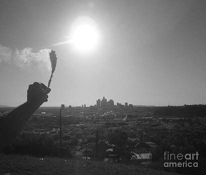 Stay Blessed Los Angeles BW by Drew Shourd
