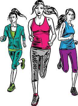 Staying Fit Is Why Women Run by Stanley Mathis