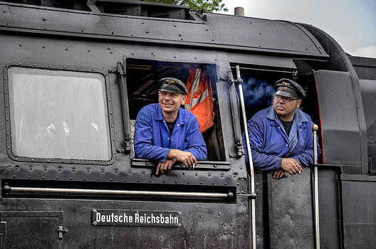 Steam Locomotive Crew by David Davies