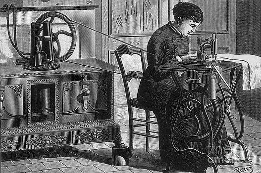 Science Source - Steam-powered Sewing Machine