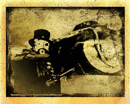Larry Lamb - Steam punk train robber Photo