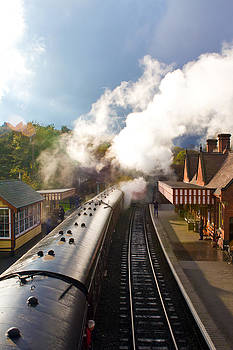 Fizzy Image - steam railway platform and staion buildings
