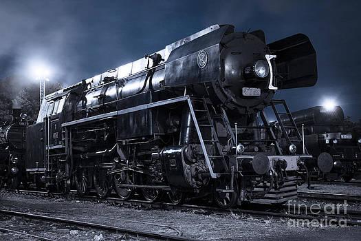 Steam Train In The Night Ii. by Martin Dzurjanik