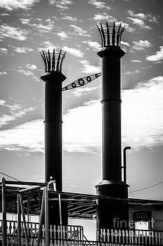 Paul Velgos - Steamboat Smokestacks Black and White Picture