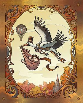 Steampunk Stork by Dani Kaulakis