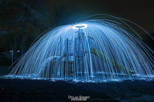 Steel Wool Shower by Dylan Sperry
