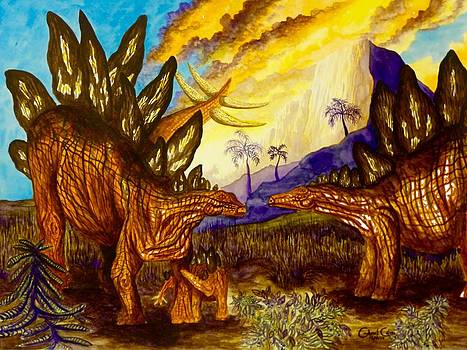 Stegosaurus by Gabriel Cajina