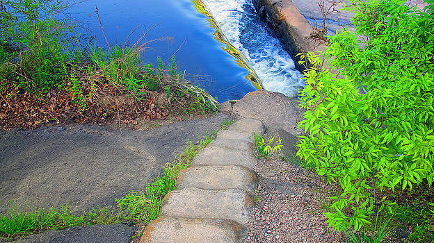 Steps to waterfall by Dulce Levitz