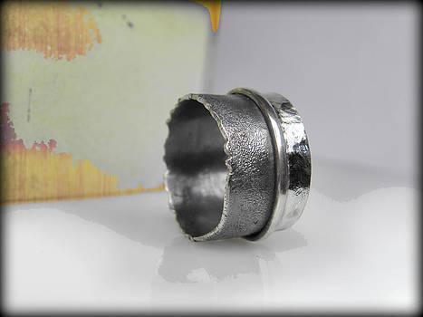 Sterling Silver Band Ring by Vesna Kolobaric