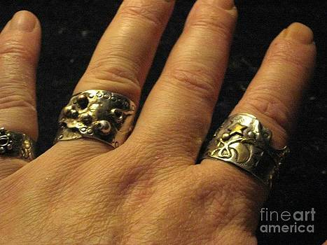 Sterling Silver Gold Mixed Metal Art Jewelry by Lois Picasso