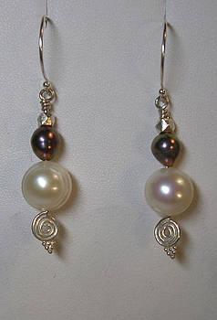 Sterling Silver Pearl Earrings by Ann Mooney