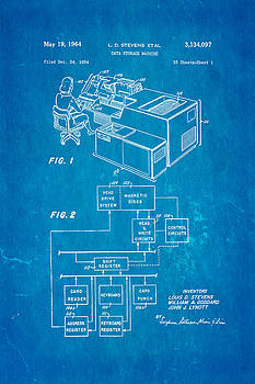 Ian Monk - Stevens Data Storage Machine Patent Art 1964 Blueprint