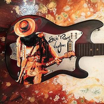 Stevie Ray Vaughan Original Signed by Ocean Clark