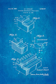 Ian Monk - Stewart Integrated Circuit Patent Art 1964 Blueprint