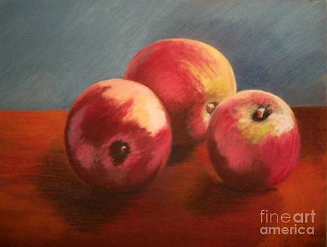 Still Life Apples by Susan M Fleischer