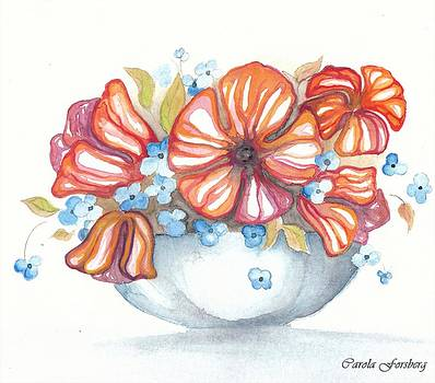 Still Life Flowers by Carola Ann-Margret Forsberg