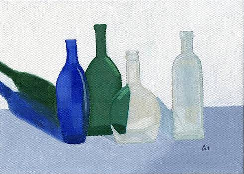 Still Life - Glass Bottles by Bav Patel
