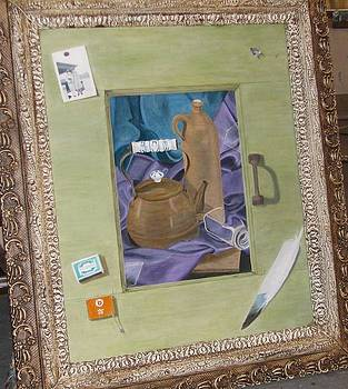 Karin Thue - Still Life in Painted Window