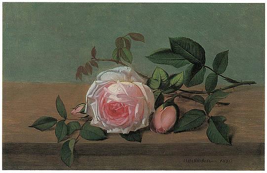 Otto Didrik Ottesen - Still Life of Flowers on a Ledge