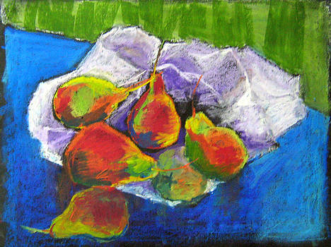 Still Life Of Pears by Toshiko Tanimoto