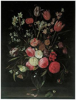 Jan Van Kessel - Still Life of Summer Flowers