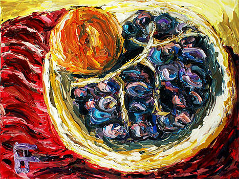 Still Life Orange Grapes in a Bowl by Allen Forrest