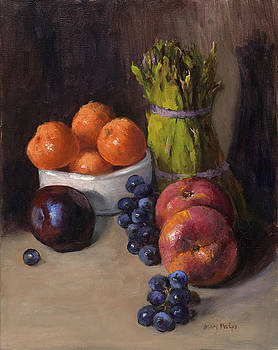 Still Life with Asparagas by Mary Phelps
