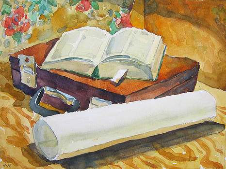 Still life with book by Igor Kir