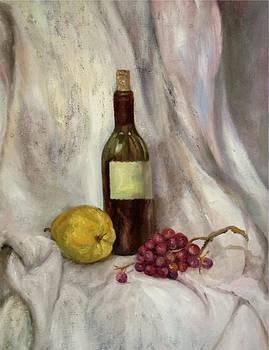 Irene Pomirchy - Still life with bottle
