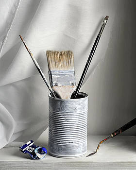 Still Life with Brushes by Krasimir Tolev